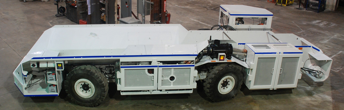 Underground mining equipment shuttle car